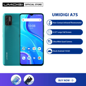 "UMIDIGI A7S Cellphone 6.53"" 20:9 Large Full Screen 2GB RAM32GB ROM 4150mAh Triple Camera Infrared Temperature Sensor Type C Global Version"