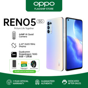 OPPO Reno5 5G Snapdragon 765G 8GB+128GB 65W Super FastCharge Quad Camera Dual-View Video