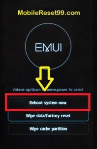 Hard Reset - Reboot Option