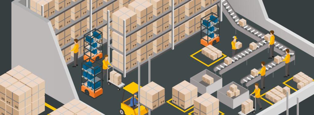 SnapFulFil Cart in warehouse