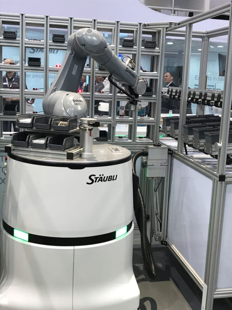 Staubli Helmo AMR robot with Cobot on top