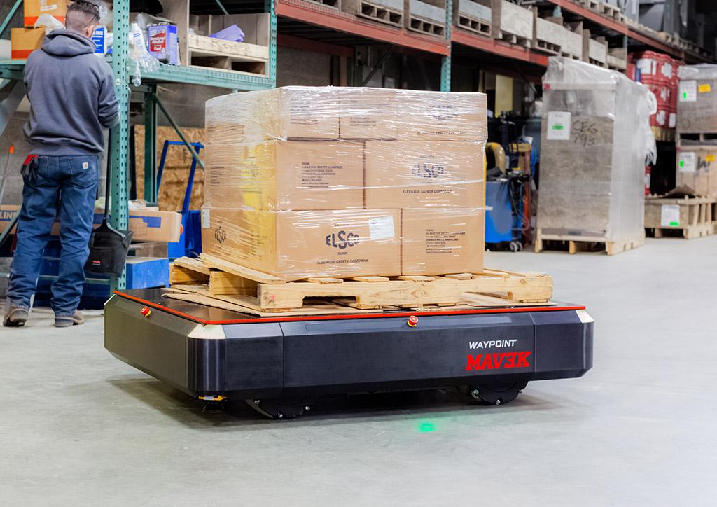 Waypoint MAV3K Robot in warehouse