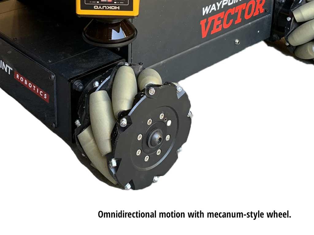 Mecanum wheel on a vector robot
