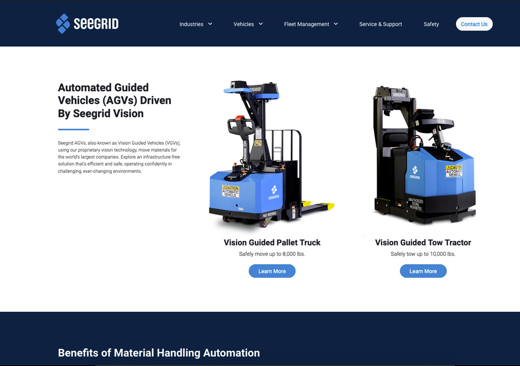 Seegrid website screenshot