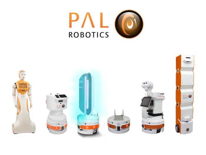 The PAL Robotics product line showing all of the robots
