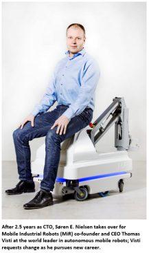 Portrait of Soren Nielson on a MIR Robot