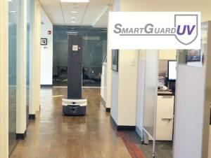 SmartGuard UV robot in an office setting