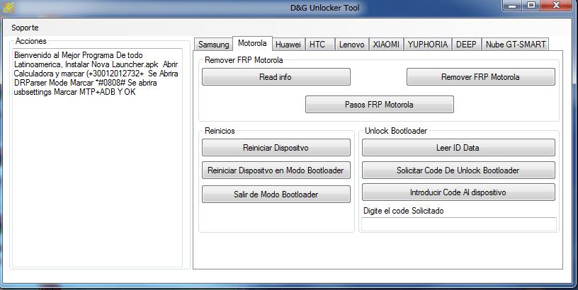 D-G FRP Unlocker Tools 2016