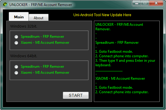 Unlocker FRP MI Account Remover