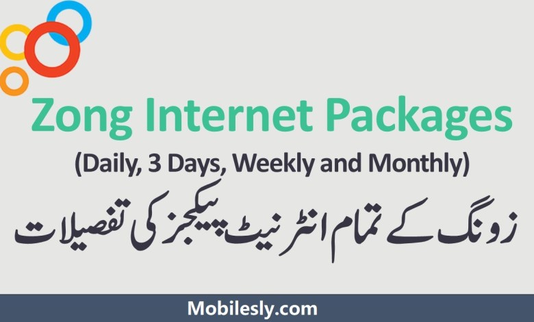 Photo of Zong Internet Packages 2021