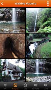 Pictures of different levadas