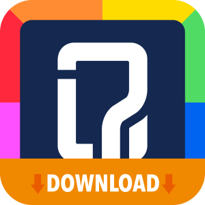 Quizit icon with download banner.