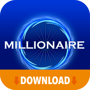 Millionaire icon with download banner.