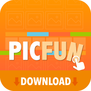 PicFun icon with download banner.