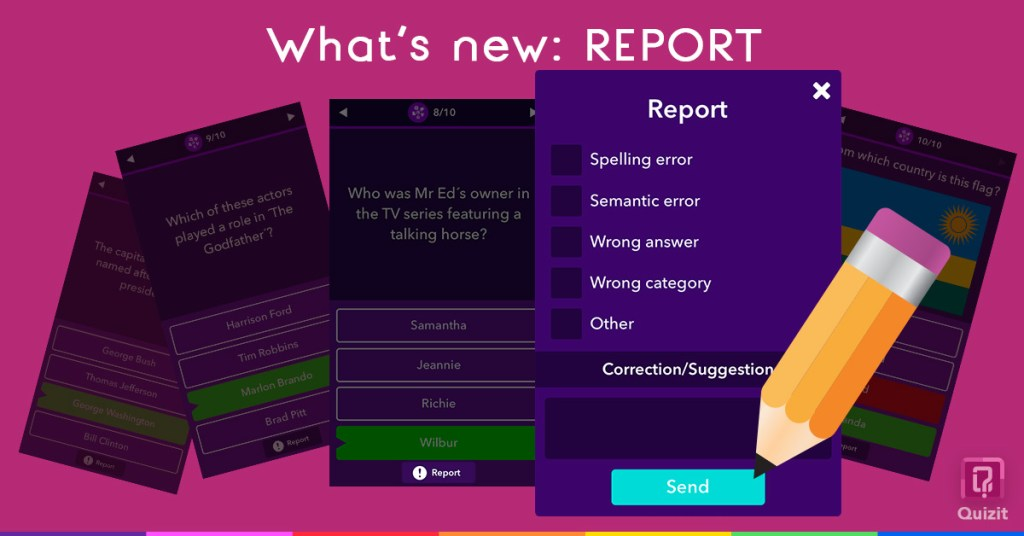 Quizit. What's new: Report.