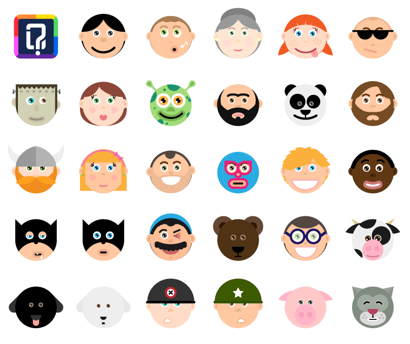 all avatars of Quizit