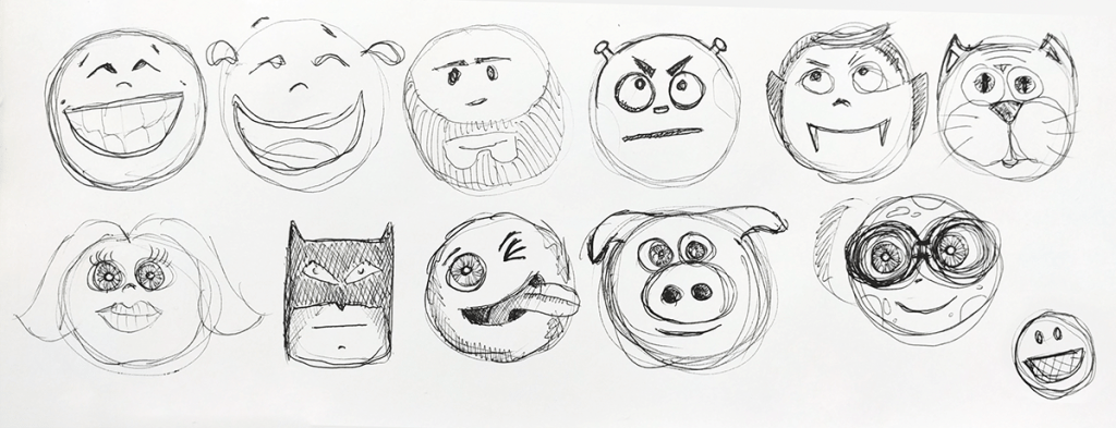 quizit new avatars sketch