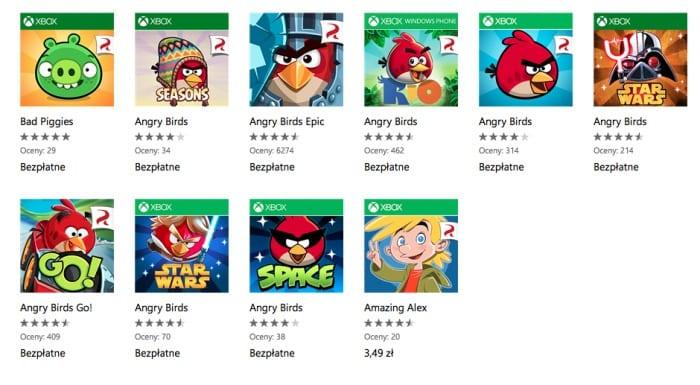 Wszystkie części Angry Birds za darmo w sklepie Windows Phone!