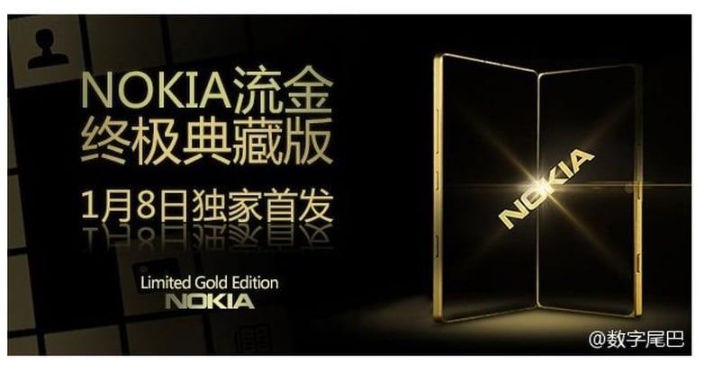 Złota Nokia Lumia 830 może się pojawić w Chinach 8 stycznia