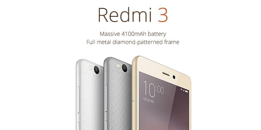 Xiaomi Redmi 3 oficjalnie zaprezentowany