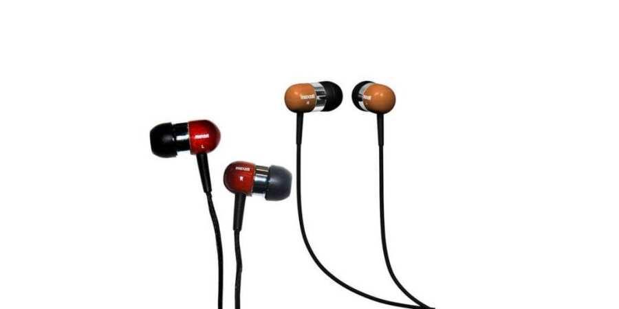 Drewniane słuchawki od Maxell