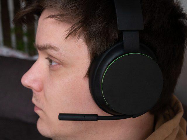 Xbox Wireless Headset on my head