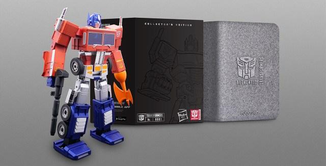 optimus prime toy and case