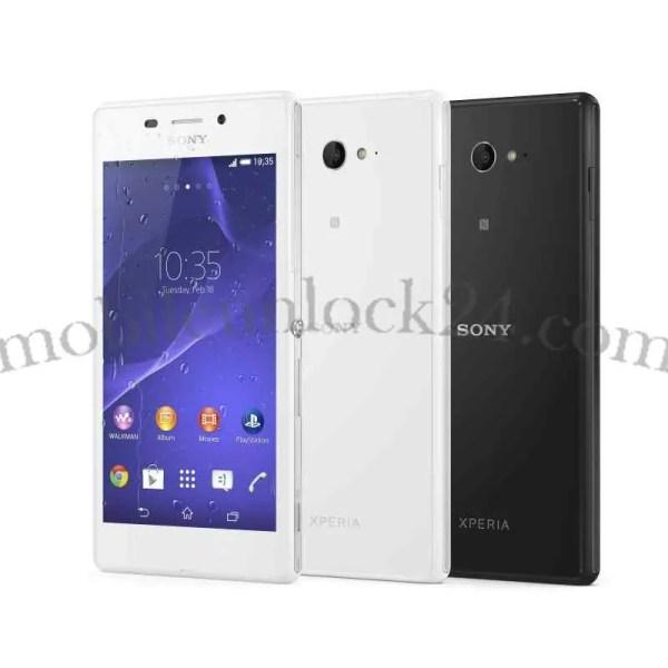 unlock Sony Xperia M2 LTE D2303