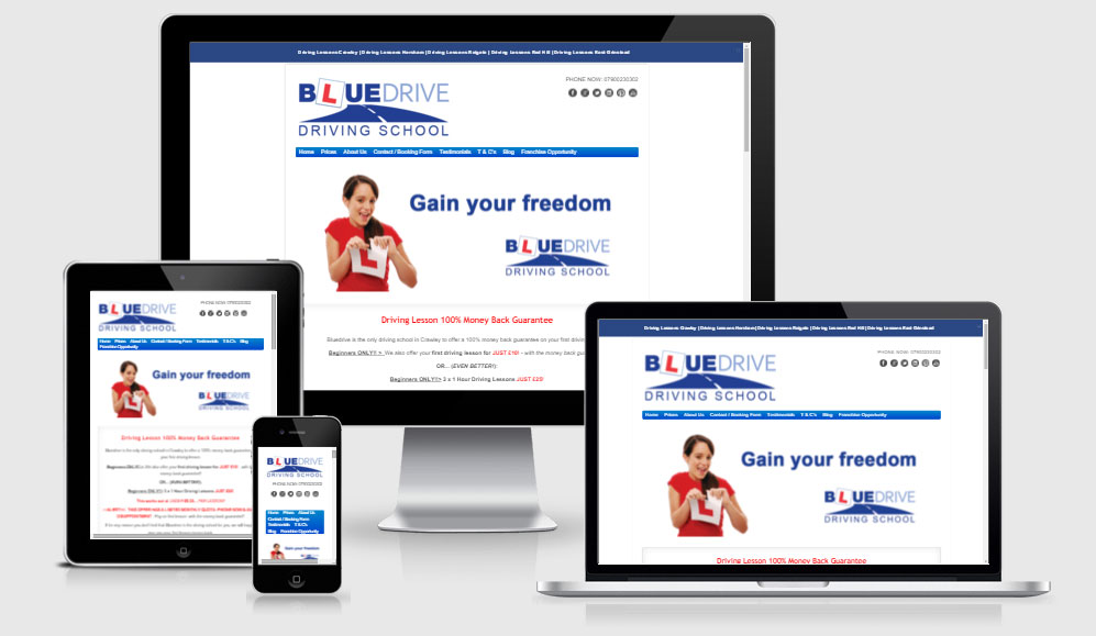 Bluedrive Driving School Website Design & Marketing