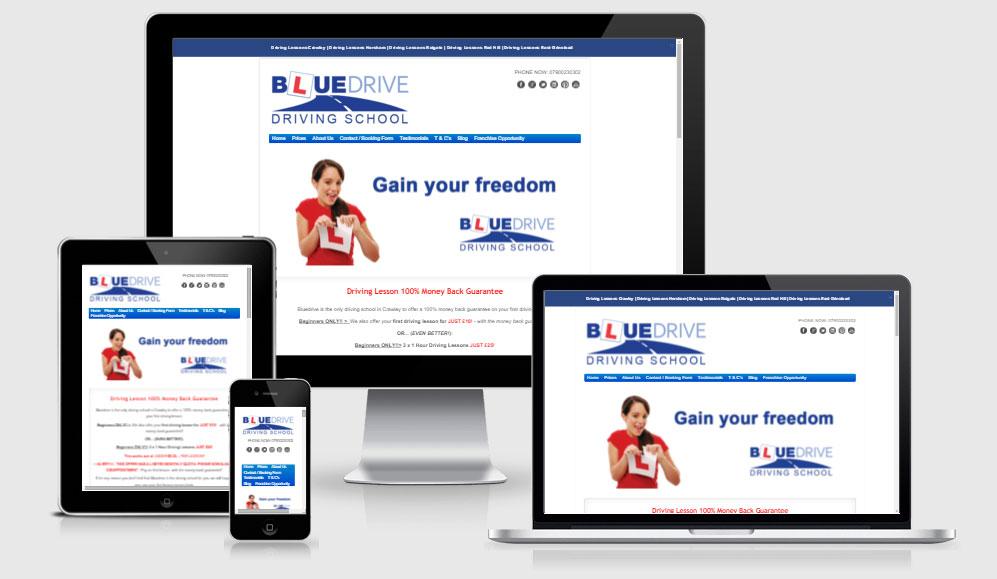 Bluedrive Driving School Website Design & Marketing
