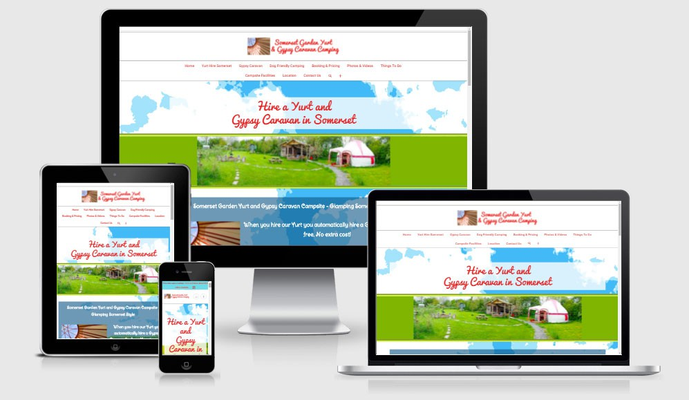 Somerset Garden Yurt Glamping Website