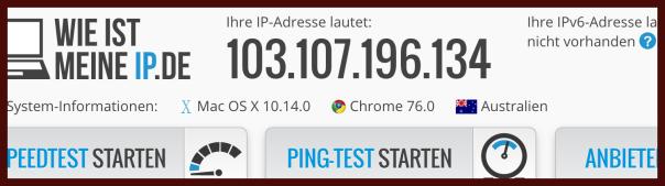 NordVPN Wie ist meine IP Test