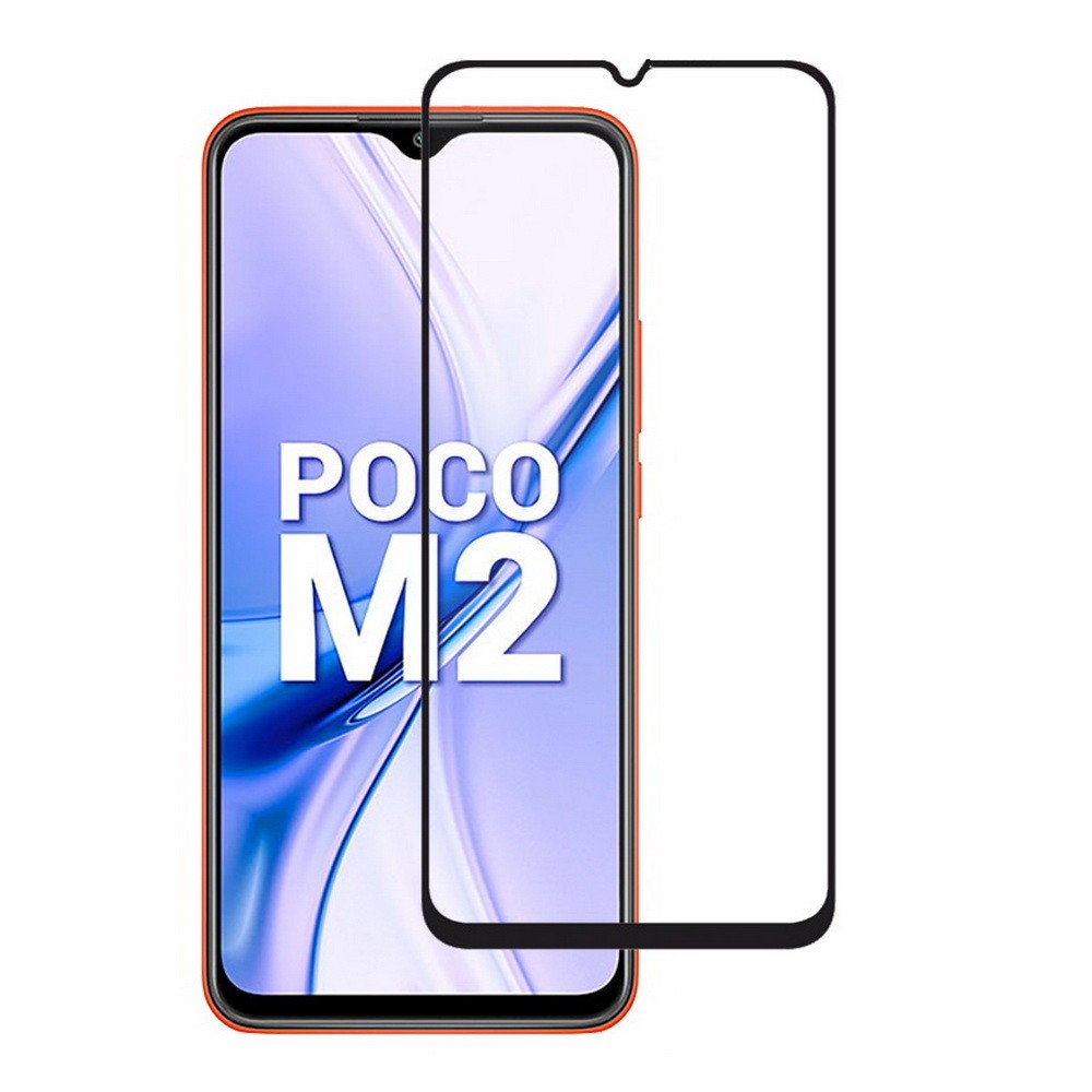 Poco M2 Tempered Glass Edge To Edge Screen Protector