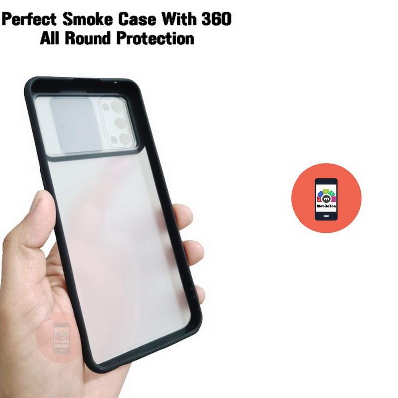 Realme 7 Pro Camera Slide Smoke Back Case Cover