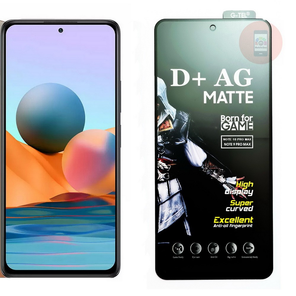 Redmi Note 10 Pro Max D+ AG Matte Tempered Glass Screen Protector