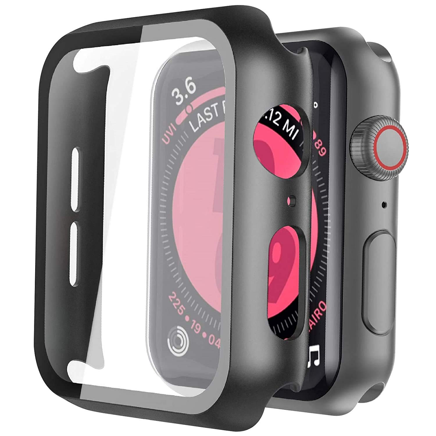 Apple Watch Series 44MM Hard Tempered Glass Case Screen Protector