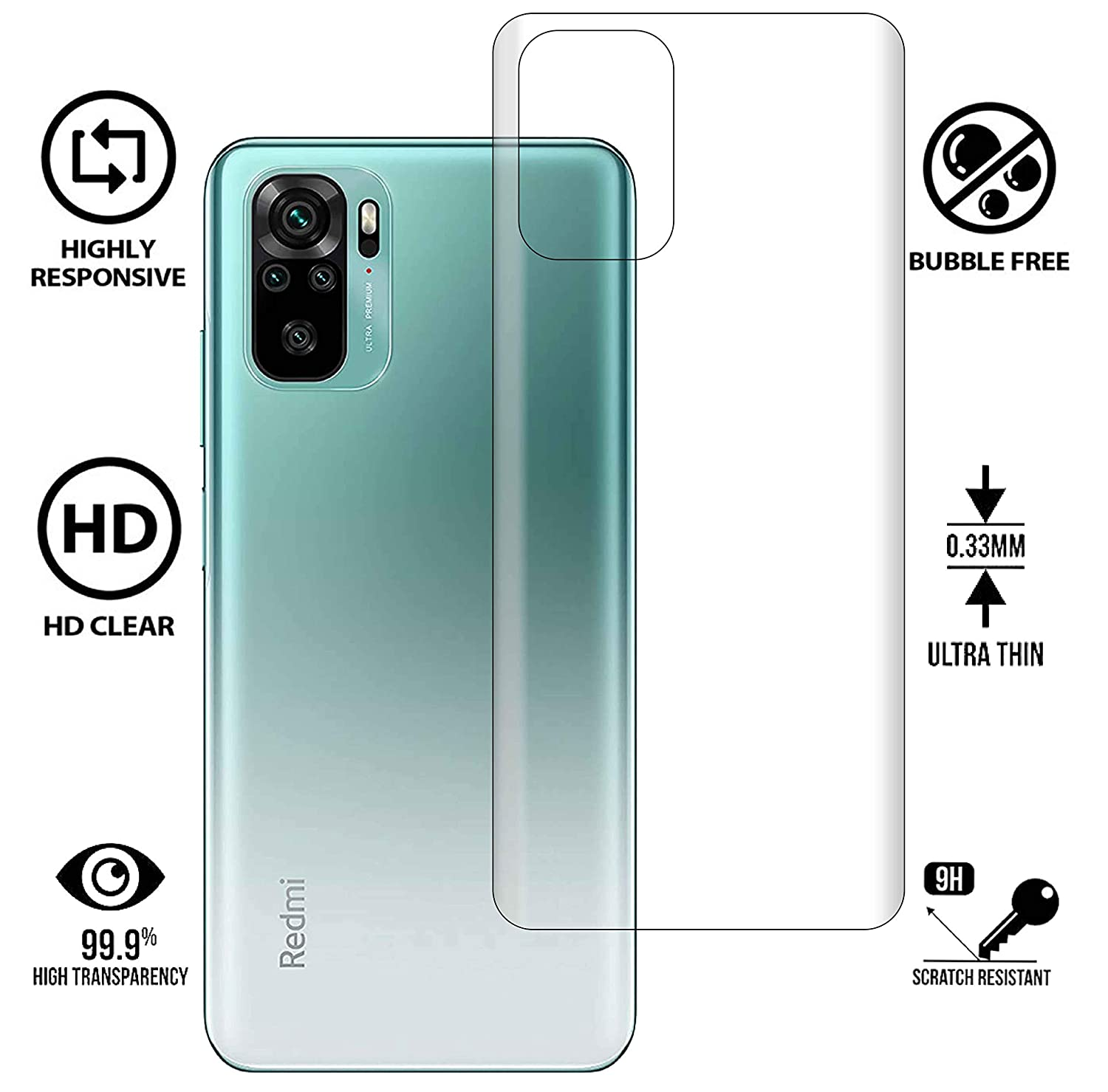 Redmi Note 10 Back Protector Screen Guard Protection