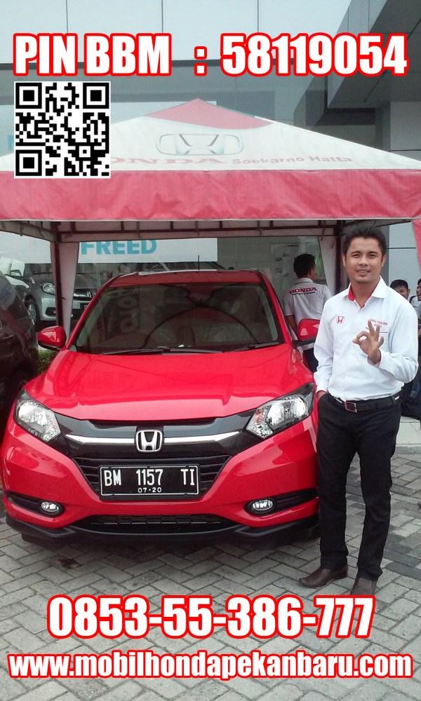 brosur daftar harga paket kredit mobil honda HRV BRV pekanbaru Riau CRV BRIO Mobilio angsuran cicilan dp bunga ringan rendah murah