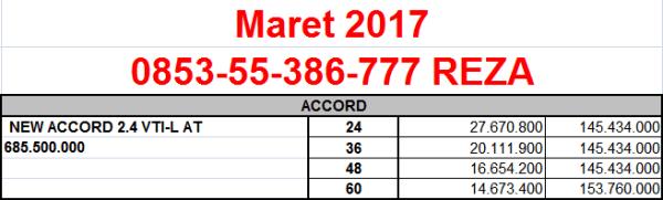 Accord Maret 2017 ADDB daftar harga otr jual murah paket simulasi kredit mobil honda dealer pekanbaru riau angsuran cicilan ringan rendah tanpa DP HRV BRV CRV brio mobilio WRV promo diskon
