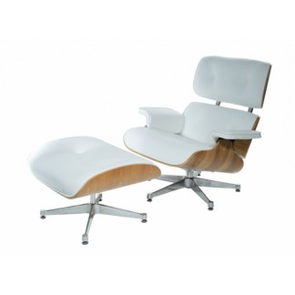 Lounge Chair+Ottoman | Fresno & Piel Blanca