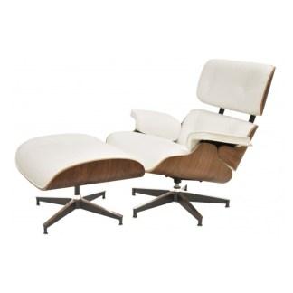 Lounge Chair+Ottoman | Nogal & Piel Blanca