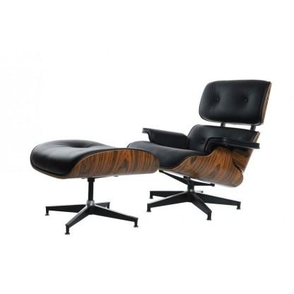 Lounge Chair+Ottoman | Palisandro & Piel Negra