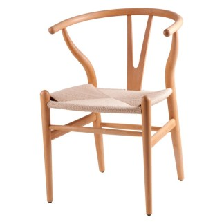 Silla Wishbone Natural Hans Wegner Y Chair Replica