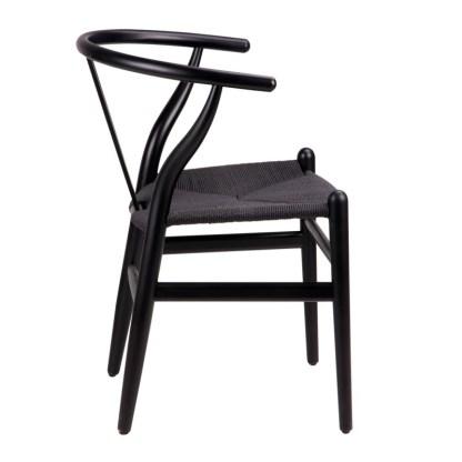 Silla Wishbone Negra Hans Wegner Y Chair Replica