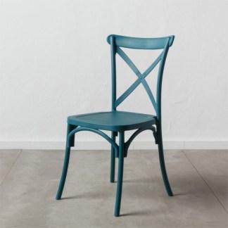 Silla Thonet Cruceta Azul | Apilable