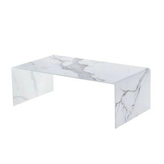 Mesa de centro Marble Glass 110x60cm