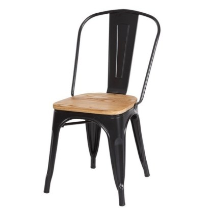 Silla Wood Tolix Style Negro