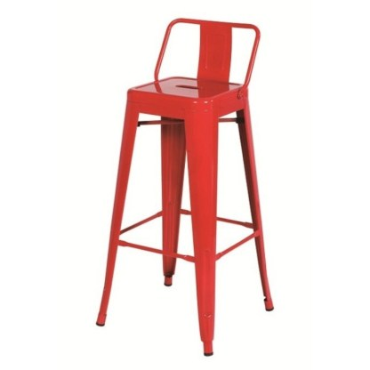 Taburete Tolix Style LB Rojo