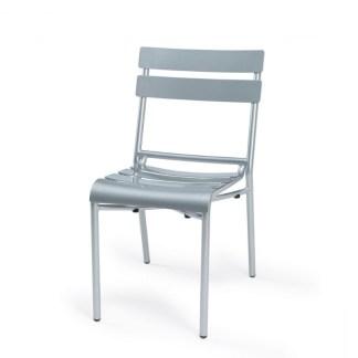 Silla Terraza Aluminio Gris