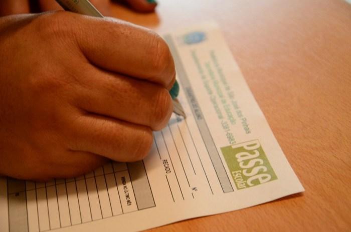 formulário do passe escolar